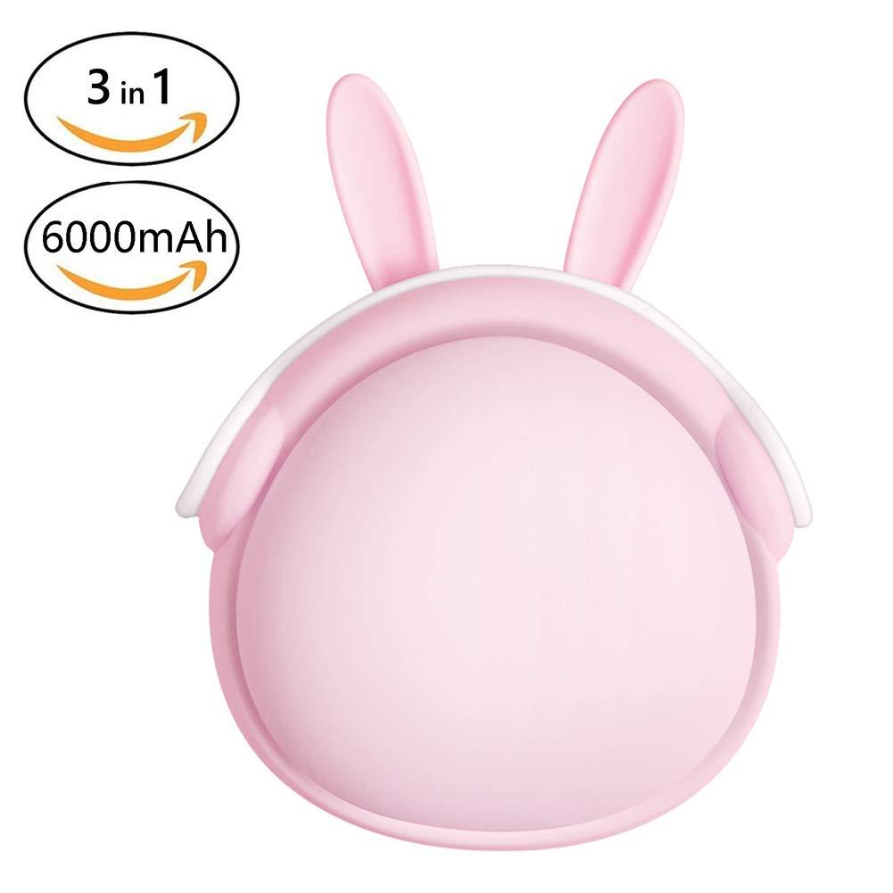 OMZBM Kreative Haustier-Wieder Aufladbare Handwärmer-6000Mah-Energie-Bank, Sofortige Tasche Doppelseitige Heizung 3-In-1 Bewegliches Externes Ladegerät Tragbare Handwarmer