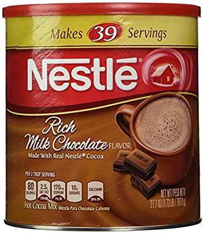Nestle Hot Cocoa Mix, Rich Milk Chocolate (39 Servings), 27.7-Ounce Canisters (Pack of 3) - Hot Chocolate With Cocoa Powder