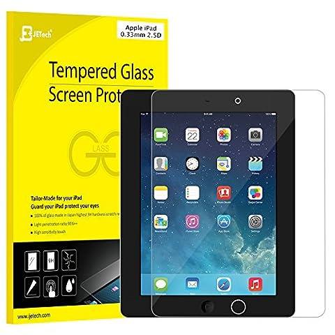 iPad Screen Protector, JETech Premium Tempered Glass Screen Protector Film for Apple iPad 2/3/4 - 0337