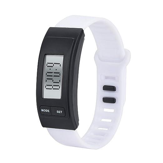 Moda Reloj Unisex Reloj Hombre Mujer Podómetro Inteligente ...