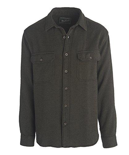 [Woolrich Men's Oxbow Bend Flannel Shirt, Olive Alaskan, XX-Large] (Green Plaid Flannel Shirt)