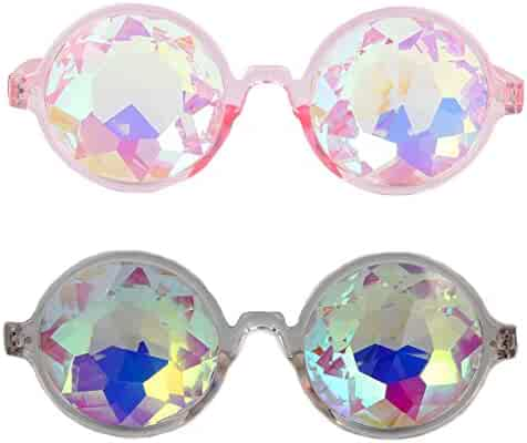 3f7cdc5f9433 FOCUSSEXY Steampunk Rave Kaleidoscope Glasses Sunglasses Goggles for Women  Men