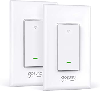 2-Pack Gosund Smart WiFi Light Switch with Remote Control and Timer