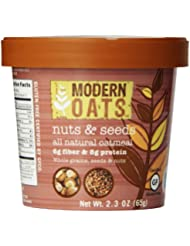 Modern Oats Nuts And Seeds Oatmeal 2 3 Ounce Pack Of 12 Gluten Free Non GMO Whole Grain Vegan And Kosher Contains Tree Nuts