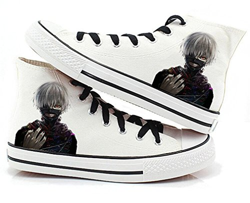 Bromeo Tokyo Ghoul Unisexe Toile Salut-Top Sneaker Baskets Mode Chaussures