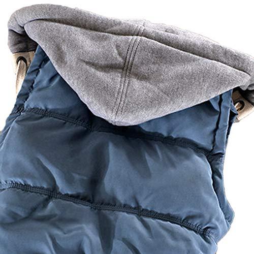 Inlefen 冬 コットン ノースリーブ ベスト 女性の ボタン 短いパラグラフ 暖かく保つ コート パーカー