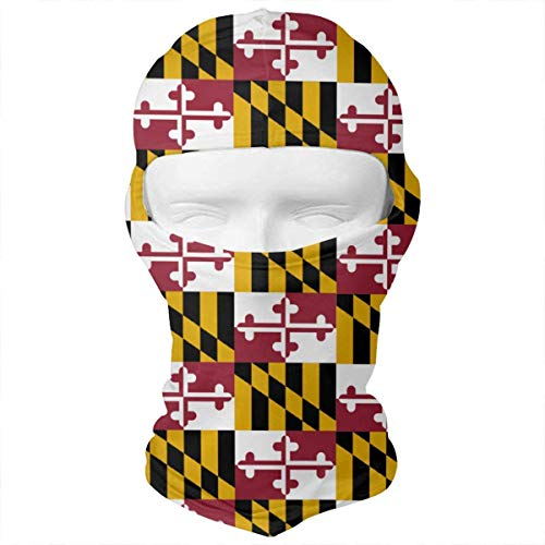 (Siwbko Maryland State Flag Balaclava Face Mask Headwear Helmet Liner Gear Full Face Mask)