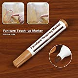 Clearance Tuscom Furniture Markers, Furniture Touch Up Marker, Scratch Repair Kit, Flet Tip Wood Markers, Markers and Wax Sticks, for Stains, Scratches, Wood Floors, Tables, Carpenters (Oak)