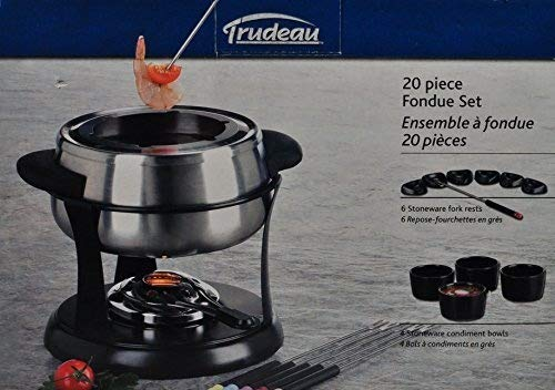 Trudeau 20 Piece Stainless Steel Fondue Set by Trudeau