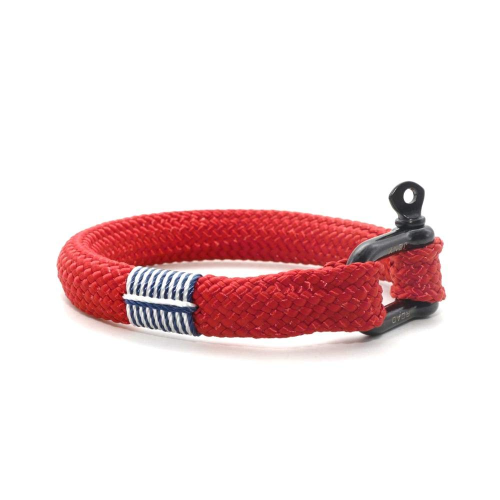 TTHER Rope Nautical Mirror - Nautical Braided Bracelet Hand-Made Yachting Rope Military Paracord Bracelet Wristband W/D-Shackle BRT-N512 by TTHER
