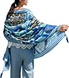 Women's Boho Bohemian Soft Blanket Oversized Fringed Scarf Wraps Shawl Sheer Gift (23)