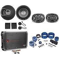 "Polk Audio MM6502 6.5"" 750w Component Speakers+Kicker 6x9 Speakers+Amp+Wire Kit"