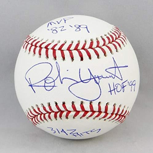 Robin Yount Autographed Rawlings Oml Baseball with Hof/Mvp/Hits- JSA W ()