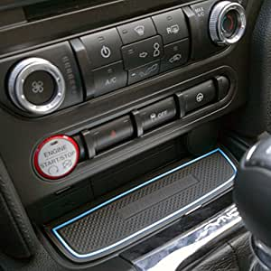 custom fit cup holder and door compartment liner accessories for ford mustang 2015. Black Bedroom Furniture Sets. Home Design Ideas