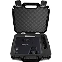 WORKFORCE Safe n Secure Video Projector Hard Case with Dense Internal Customizable Foam, Carrying Handle and Lockable Design - For Viewsonic DLP, WXGA, 1080p and 3D Projectors - Models PJD5132 / PJD5134 / PJD5155 / PJD7820HD / PJD7822HDL