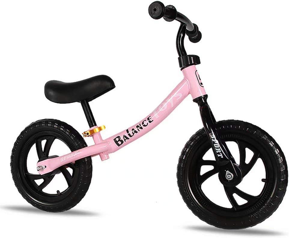 Bicicleta sin Pedales Ultraligera - para niños de 18 Meses, 2-6años, sillín Ajustable, Bicicleta de equilibrio para niños