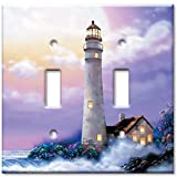 Double Gang Toggle Wall Plate - Lighthouse of Dreams