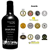 2018 Award Winner Henri Mor 16.9 Fl Oz Spanish Extra Virgin Olive Oil Early Harvest 100% Arbequina Single Variety