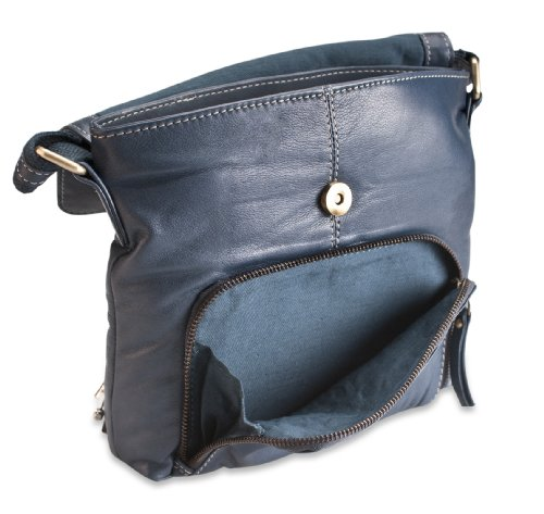 Cross Body 300 Everyday Leather 118 Brunhide Womens Bag Blue Shoulder qxf7Ppw