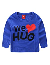 Mud Kingdom Boys Long Sleeve Shirts Cotton We Love Hug