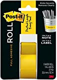 Post-it Full Adhesive Roll, 1 in x 400 in, Yellow, 1-Pack (2650-Y)