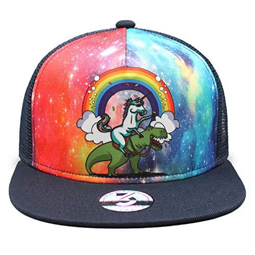 flySpacs Unicorns Flat Bill Snapbacks Mesh Baseball Caps Trucker Hat
