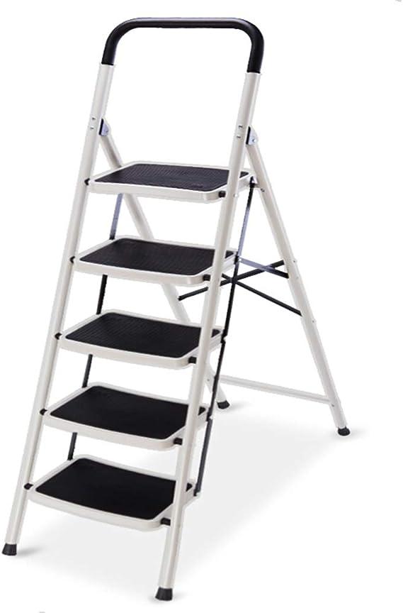 Escalera Escalonada Escalera De Cinco Pasos Escalera En Espiga Escalera Plegable Gruesa Taburete De Cinco Escalones para Subir Escalera De Ingeniería Metálica De Alta Decoración: Amazon.es: Electrónica