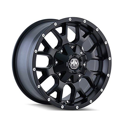 Mayhem Warrior 18 Black Wheel / Rim 5x5.5 & 7x150 with a 18mm Offset and a 87 Hub Bore. Partnumber 8015-8963MB18