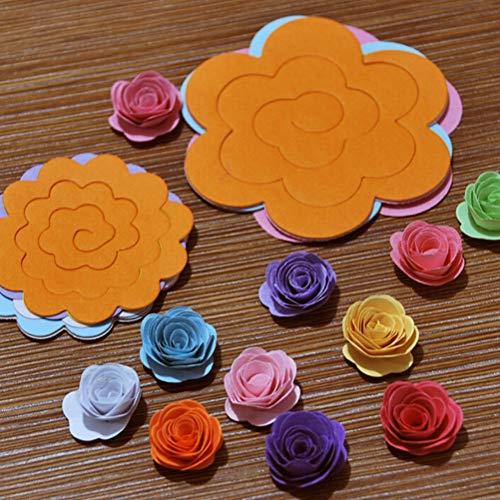 Craft Paper - 22pcs Lot Paper Quilling Flowers Rose Diy Handmade Material Two Sizes Wholesale - Lights Photo Case Artificial Slides Blue Stand Garland Teddy Backdrop Phone Sprinkles Women Vase B ()