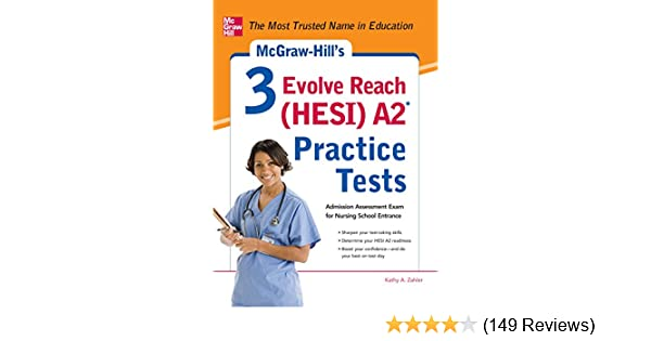 Tests Com Reviews >> Amazon Com Mcgraw Hill S 3 Evolve Reach Hesi A2 Practice