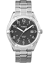Timex TW2P89200GP Men's Classic Black Dial and Silver Stainless Steel Expansion Band Watch