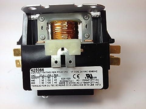 Rheem Ruud Protech 425066 - 30 Amp 1-Pole 24 Volt A/C Contactor (Rheem Contactor)