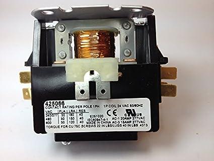 30 amp ac contactor wiring diagram wiring diagram rheem ruud protech 425066 30 amp 1 pole 24 volt a c contactor rh amazon com contactor coil wiring diagram 1 pole contactor wiring diagram asfbconference2016 Choice Image