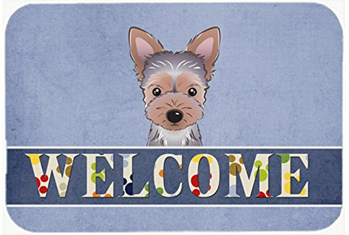 Caroline 's Treasures bb1418jcmt Yorkie Puppy Welcomeキッチンやバスマット、24 by 36、マルチカラーby Caroline 's Treasures   B011PT4PN2