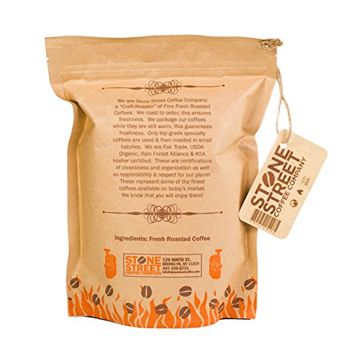 TANZANIA PEABERRY 'Mount Kilimanjaro' Whole Bean Coffee | Light Roast | 1 LB Bag | Single Origin | Smooth, Rich & Unique Flavor