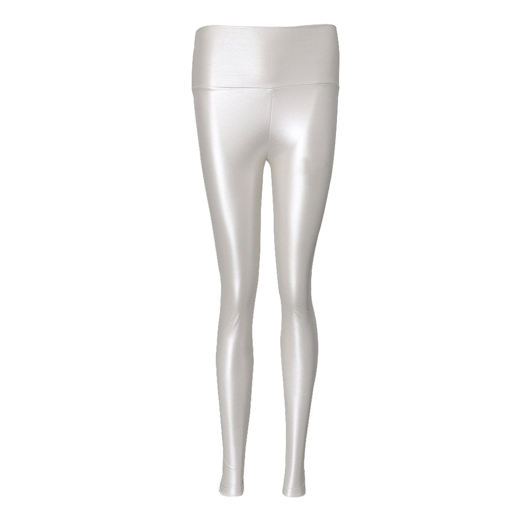 2502ddd1c3982 MagiDeal Womens Girls High Waist Leggings Stretchy Faux Leather Trousers  Slim Pencil Pants - white, L: Amazon.in: Clothing & Accessories