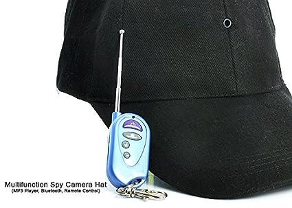 Sombrero Gorro con cámara espía y DVR Bluetooth MP3