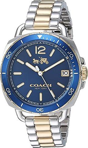 COACH Women's Tatum Green/Gold/Silver Watch (Coach Women Gold Watch)