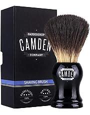 Scheerkwasten van Camden Barbershop Company ● Vegan Badger 2.0 ● voor het scheren van de neus ● veganistisch dassenhaar
