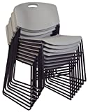 Regency 4400GY8PK Zeng Stack Chairs (Set of 8), Grey