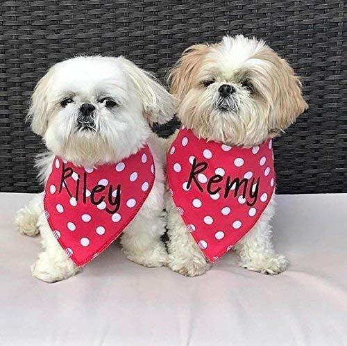 personalized dog bandanas