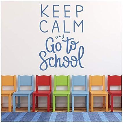 Amazoncom Celeste Decal Banytree Keep Calm School Quote Wall