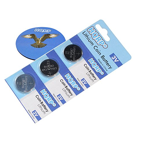HQRP 3-Pack Coin Lithium Battery for CASIO G-Shock + HQRP Coaster