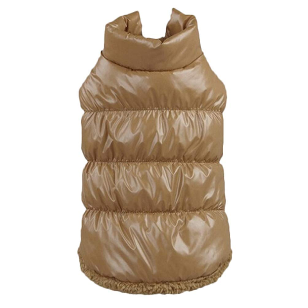 Brown XL Brown XL Jim Hugh Dog Coat Jacket Winter Dog Clothes Pet Padded Vest Coat Puppy Warm Down Fleece Polyester Clothes for Dog