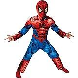 Rubies - Spider-Man Deluxe Ultimo Classic - Bambini Costume - Medium - 116 Centimetri - Età 5-6 Anni