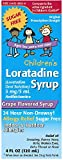 Children's Loratadine Sugar Free Grape Flavored Syrup, 4 oz. Per Bottle