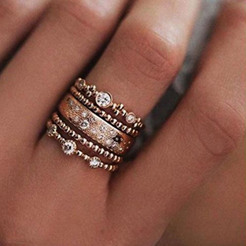 rose gold rings for women - 9
