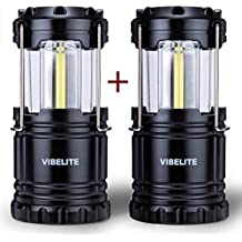 LED Camping Lantern Collapsbile COB light IP54 for Hiking Emergencies Hurricanes Outages,2Pack