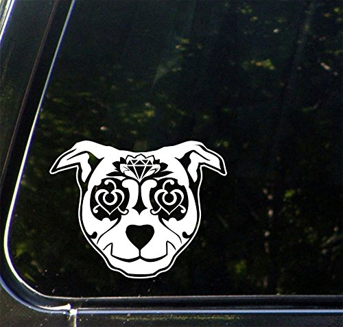 Sugar Skull Dog - D1 - Day of the Dead - Dia de los Muertos - Car | Truck | ATV | Gas Cap |Outdoor Use Vinyl Decal - Copyright 2016 Yadda-Yadda Design Co.(5.25