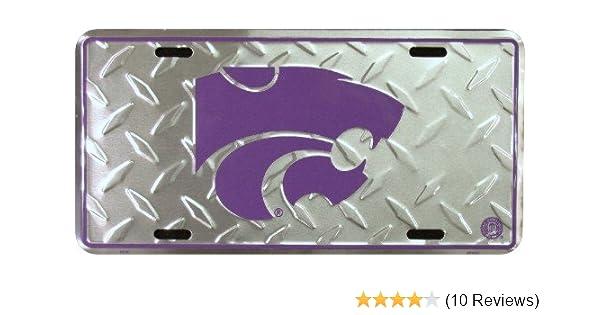 HangTime Kansas State Super Stock Metal License Plate 6 x 12 Tag City Auto tag